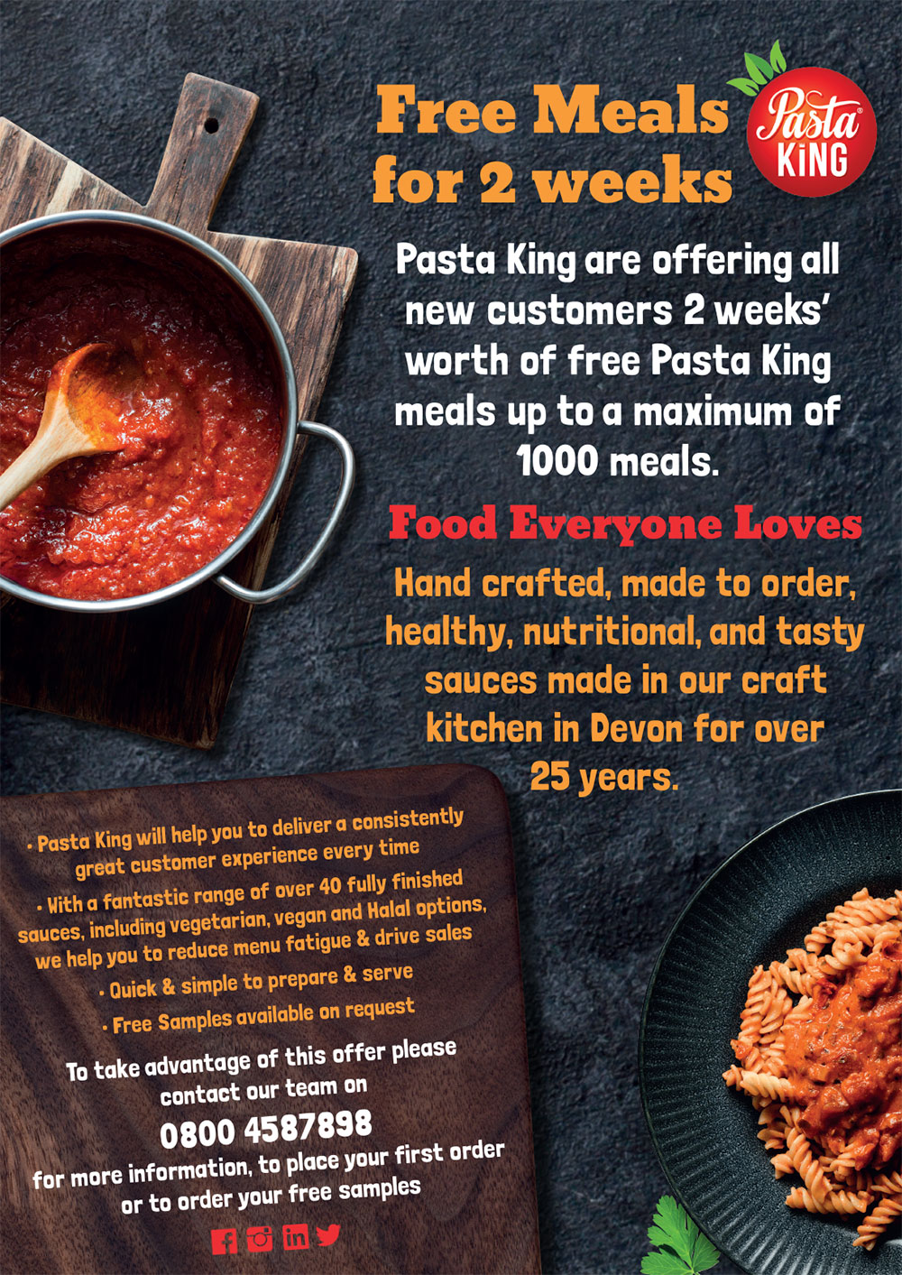 Free meals for two weeks